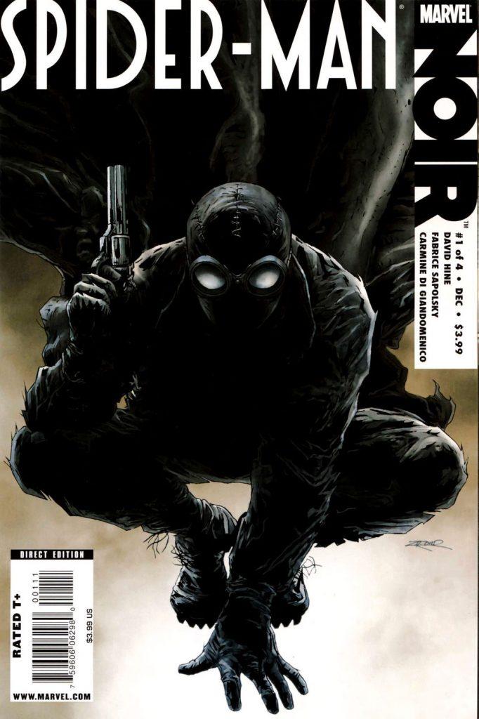 Capa da edição do Homem-Aranha Noir