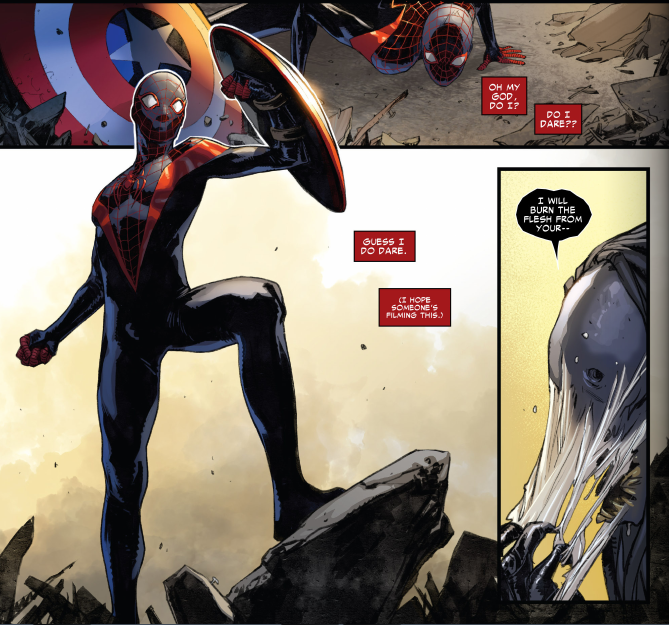 Imagem do Miles como Homem-Aranha
