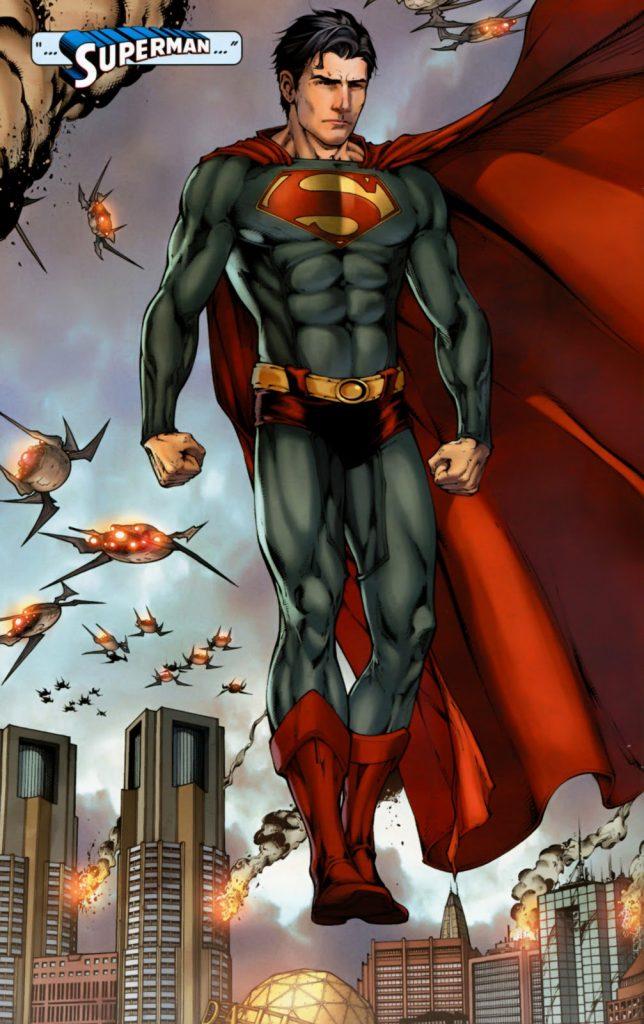 Superman Terra Um - Superman com seu uniforme classico