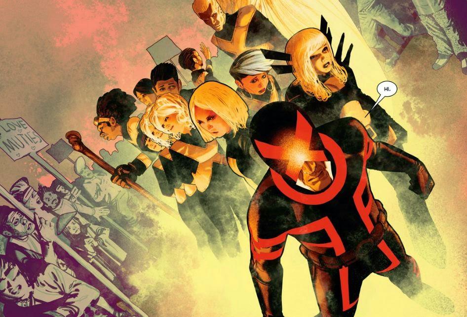 Destroçados - Imagem que mostra toda a nova equipe de X-mens