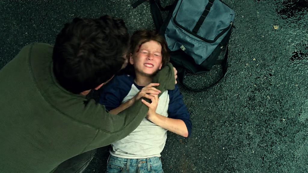 Imagem que mostra Murdock minutos depois do acidente que o deixou cego