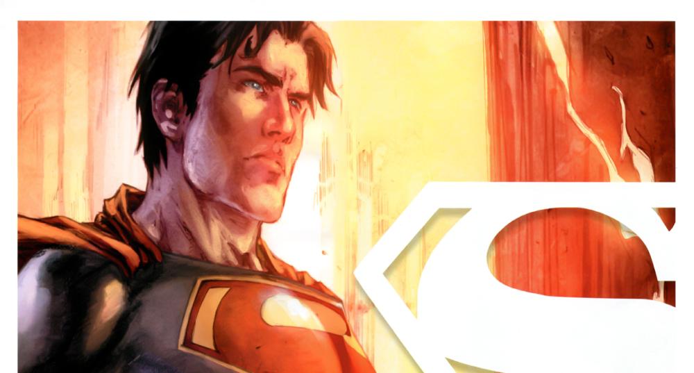Superman Terra Um - Imagem do superman numa foto tirada por Jimmy Olsen