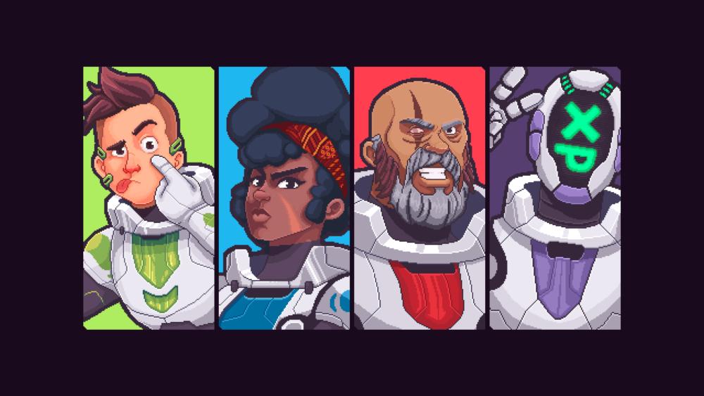 Imagem dos 4 personagens disponíveis no jogo