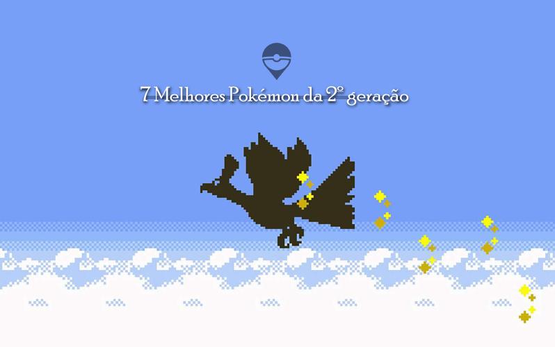 """Imagem de capa semelhante a tela de inicio do jogo """"Pokémon Gold"""", no qual se passa na região de Johto."""
