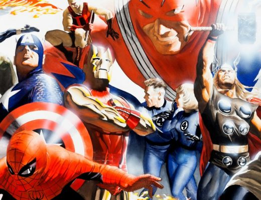 Marvels - Imagem de capa do post que mostra os herois da marvel na arte de Alex Ross