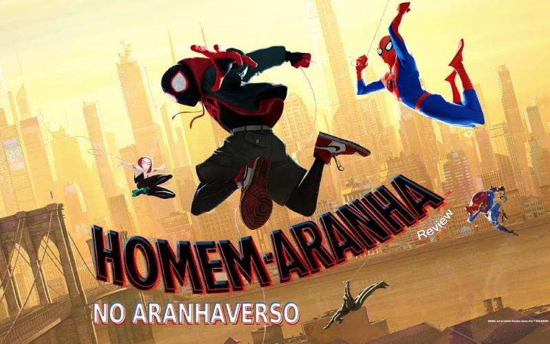Imagem de capa com todas as versões do Homem-Aranha