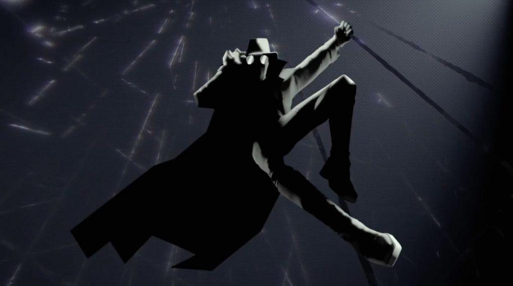 Imagem do Homem-Aranha Noir preto e branco