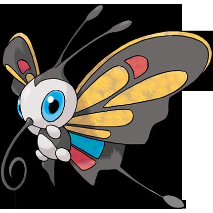 Beautifly, uma borboleta comum, só tendo um nariz grande e enrolado