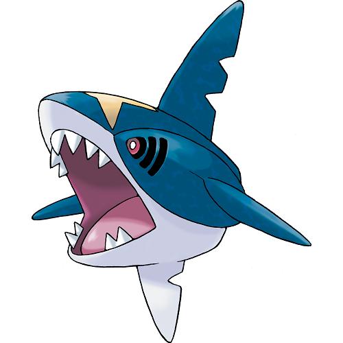Sharpedo. Um tubarão que só tem a parte da frente