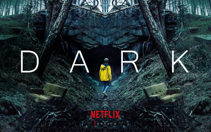 Imagem do cartaz onde motra uma caverna e um garota de capa de chuva amarela, olhando para a entrada.