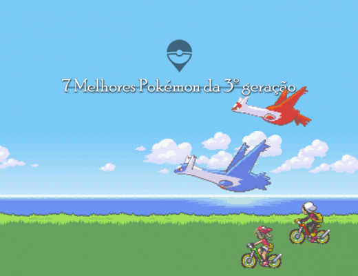 Imagem da intro do Pokémon Emerald. Onde aparece os dois personagens que você pode escolher. E dois Pokémon lendário.