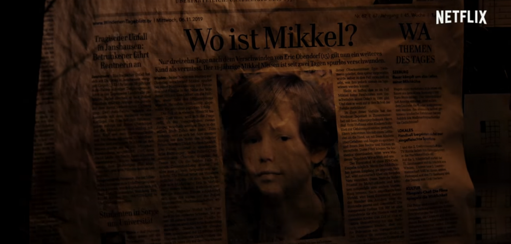 """Imagem do cartaz de """"procura-se"""" de uma das crianças desaparecidas"""