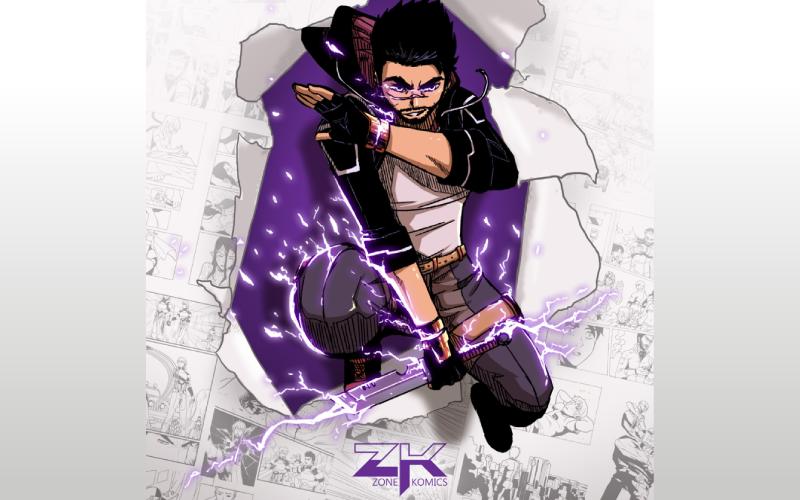 Personagem de Warper na capa